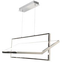 Artcraft SC13141CH Linear LED 36 inch Chrome Island Light Ceiling Light