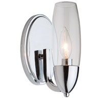 Trilogy 1 Light 5 inch Chrome Wall Sconce Wall Light