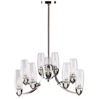 Trilogy 9 Light 24 inch Chrome Chandelier Ceiling Light