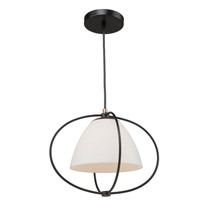 Artcraft SC13170 Dewdrop 1 Light 16 inch Black Pendant Ceiling Light