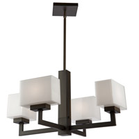 Cube 4 Light 23 inch Oil Rubbed Bronze Chandelier Ceiling Light