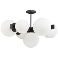 Moonglow 7 Light 27 inch Matte Black Semi-Flush Mount Ceiling Light