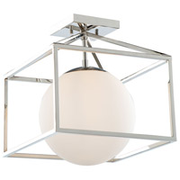Artcraft SC13274PN Eclispse 1 Light 12 inch Polished Nickel Semi-Flush Mount Ceiling Light
