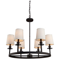 Sydney 6 Light 29 inch Black Chandelier Ceiling Light