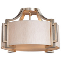 Steven & Chris by Artcraft Lighting Lexington 3 Light Flush Mount in Silver Leaf SC1562