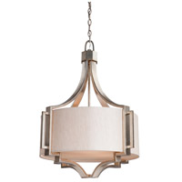 Lexington 3 Light 24 inch Silver Leaf Chandelier Ceiling Light