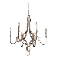 Steven & Chris by Artcraft Lighting Lexington 6 Light Chandelier in Silver Leaf SC1566