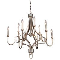 Steven & Chris by Artcraft Lighting Lexington 9 Light Chandelier in Silver Leaf SC1569 photo thumbnail