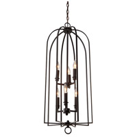 Birds of a Feather 6 Light 18 inch Black Chandelier Ceiling Light