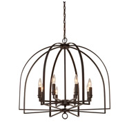 Birds of a Feather 8 Light 28 inch Black Chandelier Ceiling Light