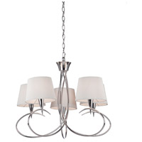 Oslo 5 Light 27 inch Chrome Chandelier Ceiling Light