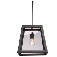 Steven & Chris by Artcraft Lighting Kingston 1 Light Single Pendant in Black SC231