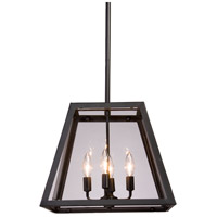 Steven & Chris by Artcraft Lighting Kingston 4 Light Chandelier in Black SC236