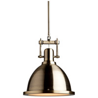 Steven & Chris by Artcraft Lighting Broadview 1 Light Pendant in Antique Brass SC290