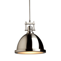 Steven & Chris by Artcraft Lighting Broadview 1 Light Pendant in Polished Nickel SC290