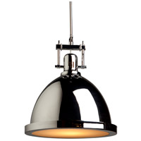 Steven & Chris by Artcraft Lighting Broadview 1 Light Pendant in Chrome SC291