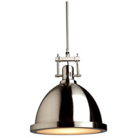 Steven & Chris by Artcraft Lighting Broadview 1 Light Pendant in Polished Nickel SC291
