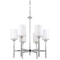 Steven & Chris by Artcraft Lighting Gramercy Park 6 Light Chandelier in Chrome SC426