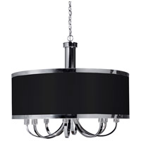 ARTCRAFT Madison 8 Light Chandelier in Black SC438BK