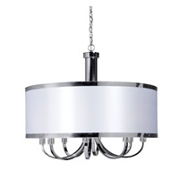 Madison 8 Light 30 inch White Chandelier Ceiling Light