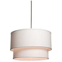 Mercer Street 3 Light 18 inch White Chandelier Ceiling Light