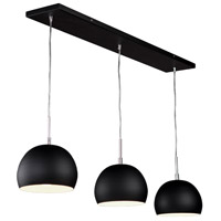 On The Spot 3 Light 36 inch Black Island Light Ceiling Light