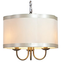 Steven & Chris by Artcraft Lighting Richmond 3 Light Chandelier in Antique Brass SC573