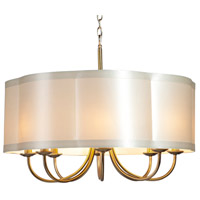 Steven & Chris by Artcraft Lighting Richmond 8 Light Chandelier in Antique Brass SC578
