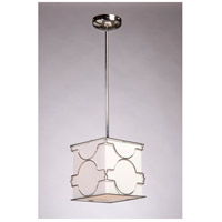Morocco 1 Light 8 inch Chrome Pendant Ceiling Light