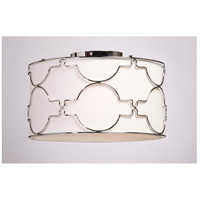 Morocco 3 Light 16 inch Chrome Flush Mount Ceiling Light