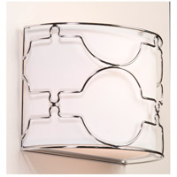 Morocco 2 Light 12 inch Chrome Wall Bracket Wall Light
