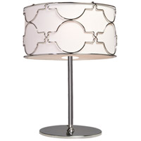 Morocco 24 inch 60 watt Chrome Table Lamp Portable Light