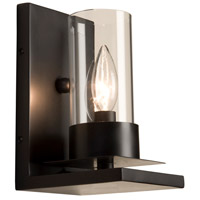 Steven & Chris by Artcraft Lighting Crawford 1 Light Wall Bracket in Matte Black SC651