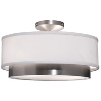 Scandia 2 Light 16 inch Brushed Nickel Semi Flush Ceiling Light