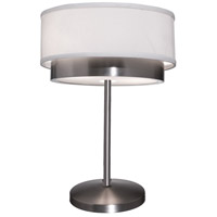 Steven & Chris by Artcraft Lighting Scandia 2 Light Table Lamp in Brushed Nickel SC788