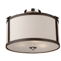 Bay Street 3 Light 14 inch White Semi Flush Mount Ceiling Light
