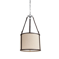 Steven & Chris by Artcraft Lighting Bay Street 3 Light Chandelier in Brown Leather SC873OM