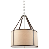 Steven & Chris by Artcraft Lighting Bay Street 5 Light Chandelier in Brown Leather SC875OM