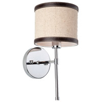 Steven & Chris by Artcraft Lighting Bay Street 1 Light Wall Bracket in Brown Leather SC877OM
