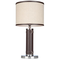 Steven & Chris by Artcraft Lighting Bay Street 1 Light Table Lamp in Brown Leather SC878OM