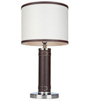Steven & Chris by Artcraft Lighting Bay Street 1 Light Table Lamp in White SC878WH