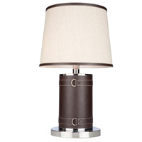 Steven & Chris by Artcraft Lighting Bay Street 2 Light Table Lamp in Brown Leather SC879OM