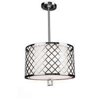 Trellis 3 Light 13 inch Chrome Pendant Ceiling Light
