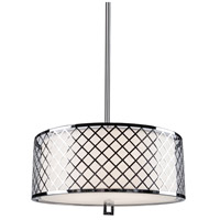 Trellis 5 Light 22 inch Chrome Pendant Ceiling Light
