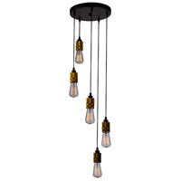 Artcraft AC10577VB Jersey 5 Light 11 inch Vintage Brass Chandelier Ceiling Light