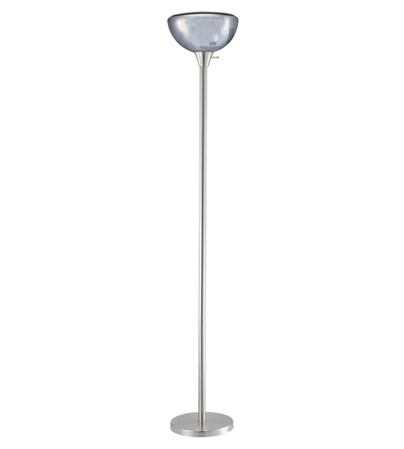 Adesso Danbury Floor Lamp 1 Light in Satin Steel 1510-22 photo
