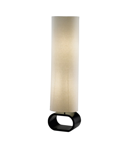 Adesso Harmony Floor Lamp in White/Black 1520-02 photo