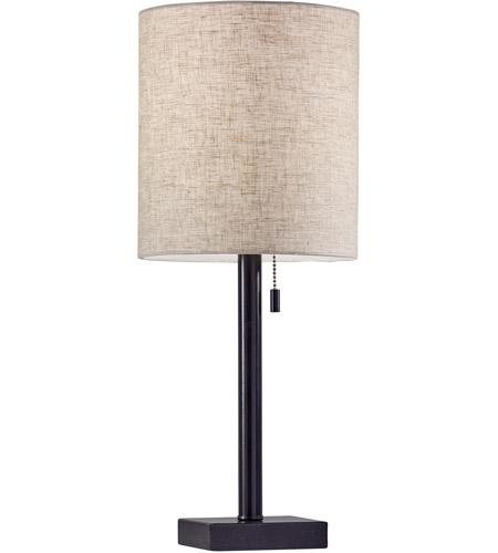 Adesso 1546 26 Liam 22 Inch 60 Watt Dark Bronze Table Lamp Portable Light Photo