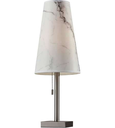 Adesso 1549-22 Ava 24 inch 100 watt Brushed Steel Table Lamp Portable Light photo