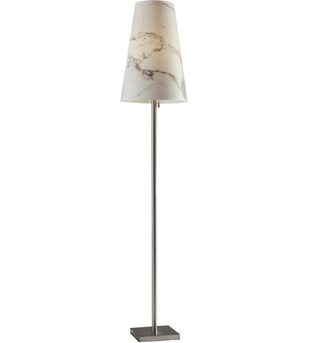 Adesso Brushed Steel Paper Floor Lamps